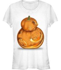 fifth sun star wars women's bb-8 pumpkin carving halloween short sleeve tee shirt