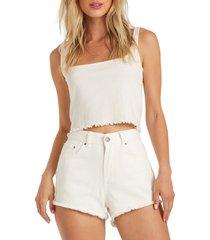 women's billabong drift away cutoff denim shorts, size 25 - blue
