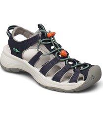 ke astoria west sandal w navy-beveled glass shoes summer shoes flat sandals blå keen