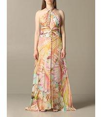 blumarine dress long blumarine dress with american neckline