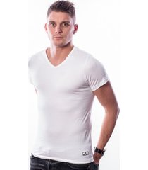 ten cate men t-shirt v-neck white two pack (30870)