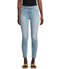 7 for all mankind women's roxanne high-rise ankle jeans - brooks - size 29 (6-8)