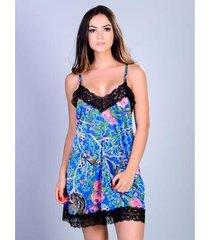 camisola curta silk satin yasmin lingerie feminina - feminino