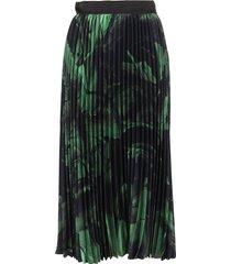 off-white greenbrushstroke plisse skirt