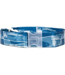 a-cold-wall* printed canvas belt - blue