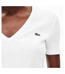 camiseta lacoste slim fit feminina