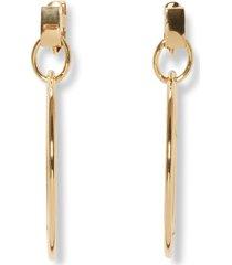 women's vince camuto drop hoop clip earrings