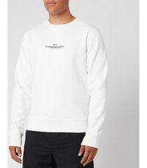 maison margiela men's embroidered logo sweatshirt - off white - it 52/xl