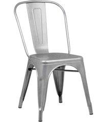 conjunto 06 cadeiras iron aã§o rivatti - cinza - dafiti
