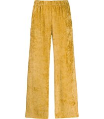 peserico micro pleated trousers - yellow