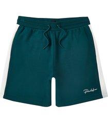 river island mens prolific green block shorts