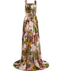 women's la double j mimosa floral print double georgette dress