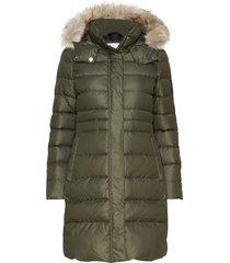 essential down coat gevoerde lange jas groen calvin klein