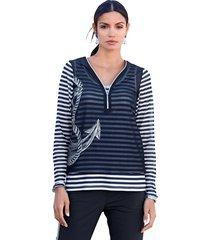 shirt amy vermont marine::wit