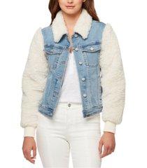 sanctuary minka faux-fur jean jacket