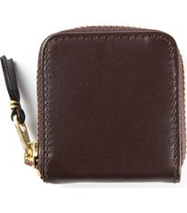 comme des garçons wallet all around zip purse - brown