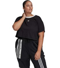 camiseta adidas originals cropped preto