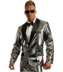 buyseasons men's disco ball tuxedo silver jacket