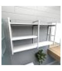 prateleira industrial para banheiro aço branco prateleiras 30 cm branca modelo indb14bb