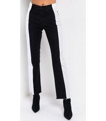 akira half and half straight jeans