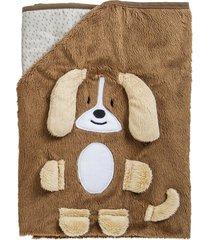 cobertor infantil lenox kiddo buddy cachorro marrom 173ch - incolor - dafiti