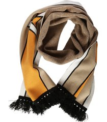 burberry stripe long knit scarf