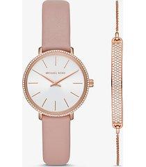 set braccialetto con cursore e orologio pyper mini tonalita oro rosa