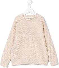andorine swallow patch sweatshirt - neutrals