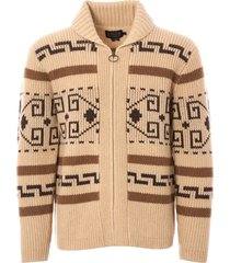 pendleton woolen mills original westerley cardigan - tan & brown rf004-61161