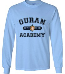 ouran host club academy ōran kōkō hosuto kurabu long sleeve men tee light blue