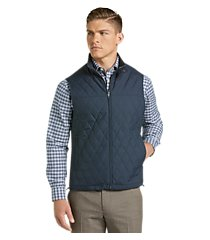 travel tech tailored fit diamond quilted vest clearance