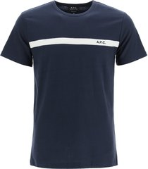 a.p.c. yukata t-shirt with logo embroidery