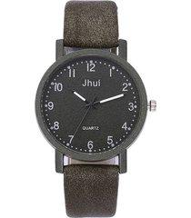 reloj pulsera mujer casual cuarzo correa cuero pu 1137 verde militar