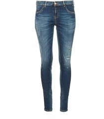 skinny jeans met destroyed details sofi  blauw