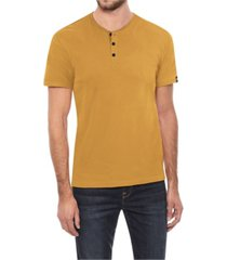 x-ray men's soft stretch henley t-shirt