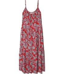 tierney dress in sun red