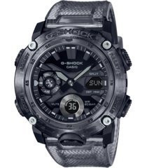 g-shock men's analog-digital translucent smoke resin watch 48.7mm