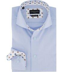 cavallaro overhemd blauw slim fit