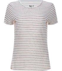 camiseta mujer doble linea color blanco, talla s