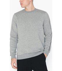 only & sons onstelfor crewneck tröjor ljus grå