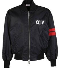 gcds black cotton blend track jacket
