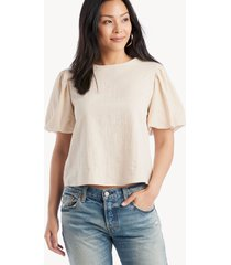 the good jane women's soft in color: sand emma top size large from sole society