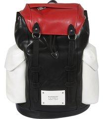 givenchy logo patch side pocket backpack