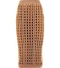 fendi interlock knit skirt
