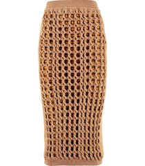 fendi interlock knit skirt
