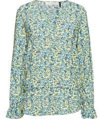 louisa tie top blouse lange mouwen groen pieszak