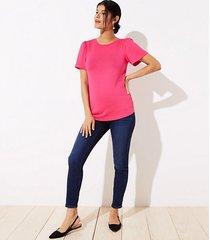 loft petite maternity skinny jeans in dark indigo