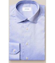 eton heren overhemd licht fine twill cutaway slim fit
