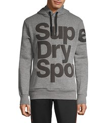 graphic cotton blend hoodie