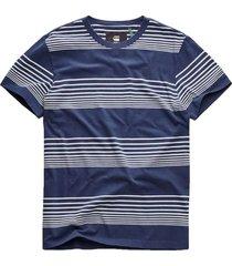 g-star raw loam tee blue stipe t-shirts prints blauw